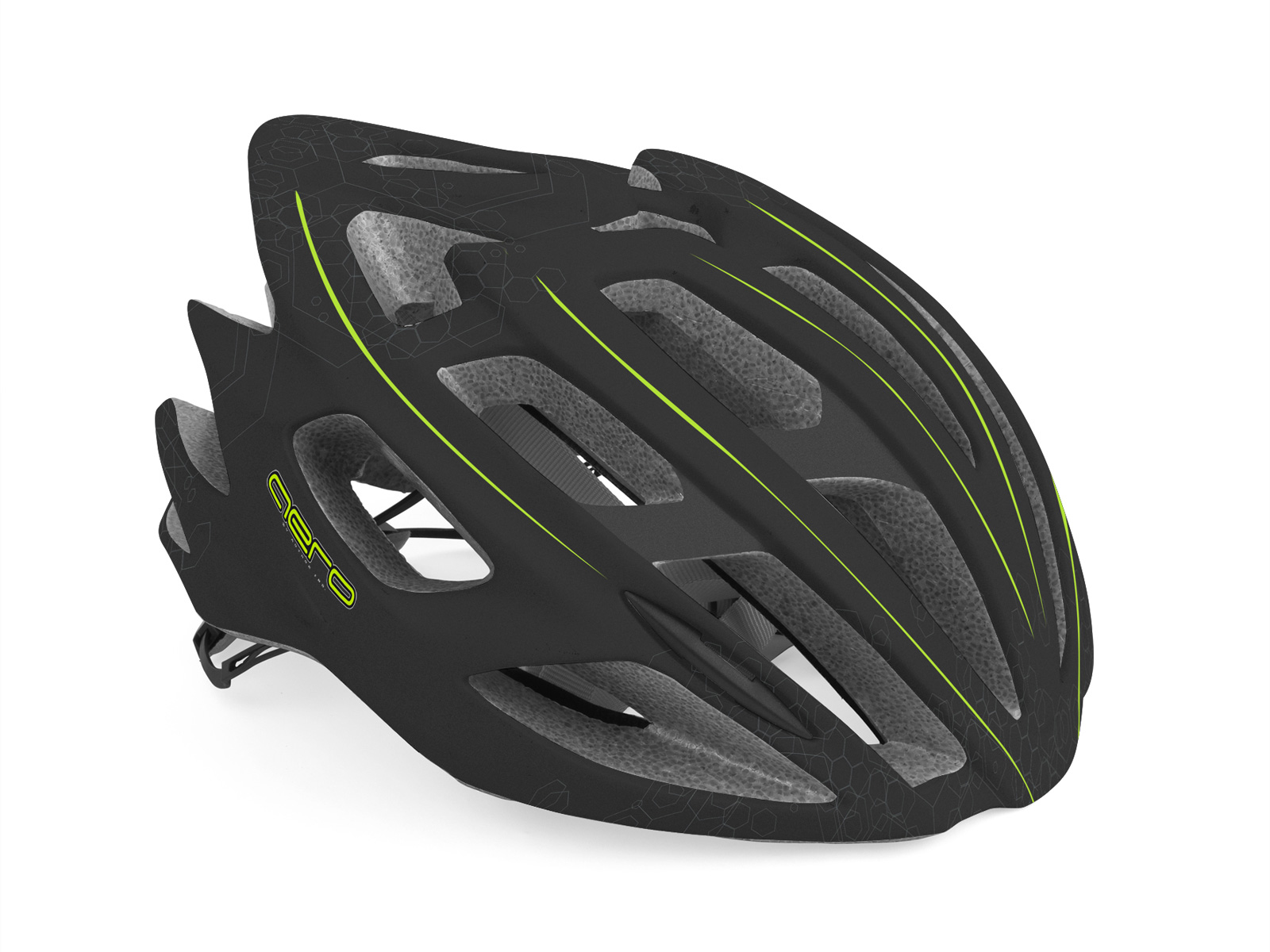 Шлем AERO InMold X7 162 BLACK/YELLOW-NEON р-р 52-58см AUTHOR