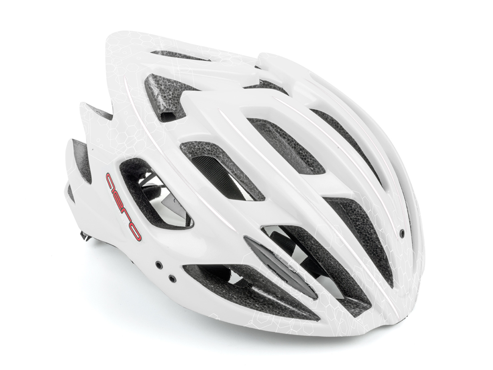 Шлем AERO InMold X7 165 WHITE/RED р-р 52-58см AUTHOR