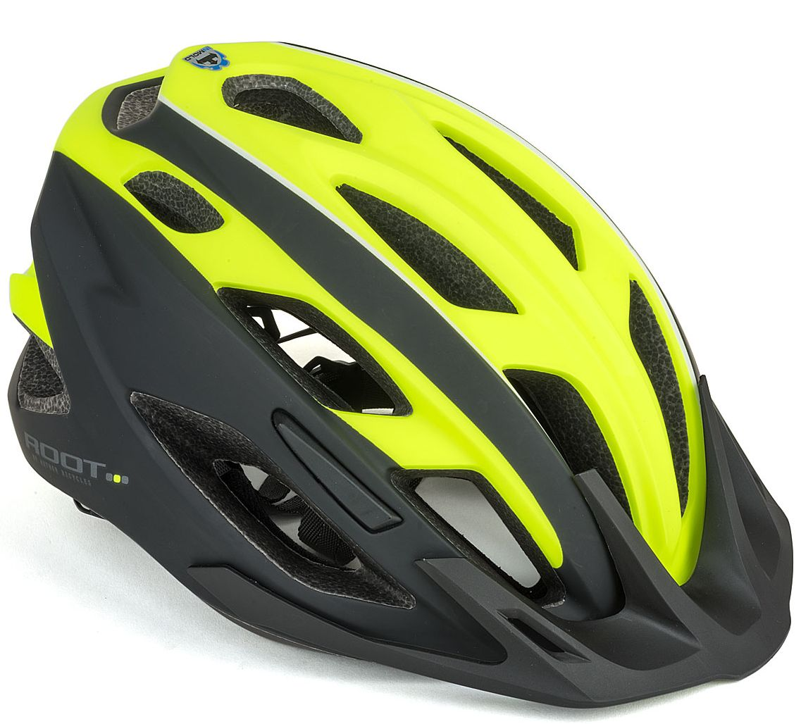 Шлем спортивный ROOT INMOLD 173 NEON-YELLOW/BLACK р-р 53-59 см AUTHOR