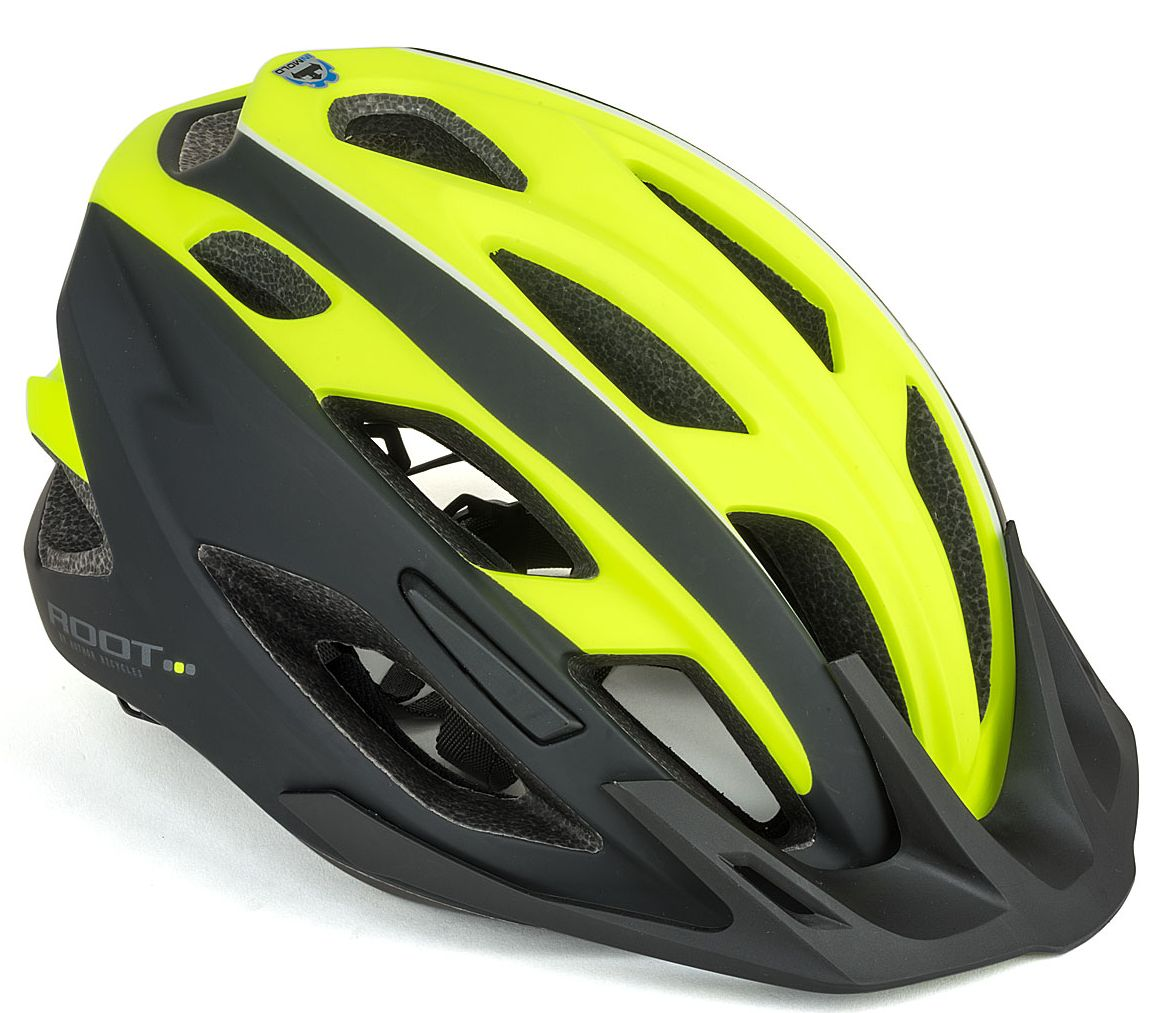 Шлем спортивный ROOT INMOLD 173 NEON-YELLOW/BLACK р-р 59-61 см AUTHOR