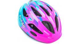Шлем подростковый FLASH 081 PINK/BLUE INMOLDр-р 47-51см AUTHOR