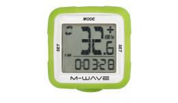Велокомпьютер X-IV SILICON зеленыйM-WAVE