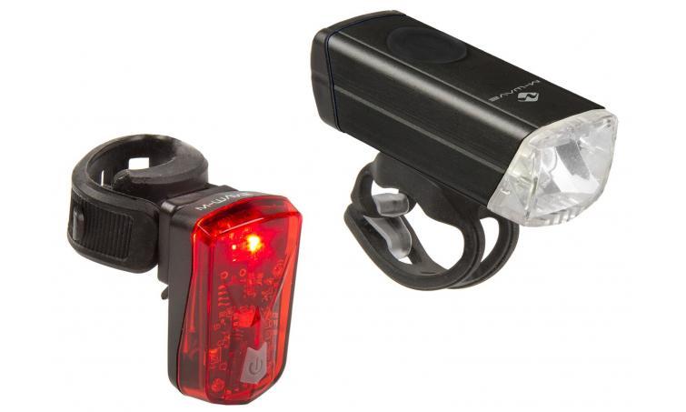 Фара передняя + фонарь задний  M-WAVE