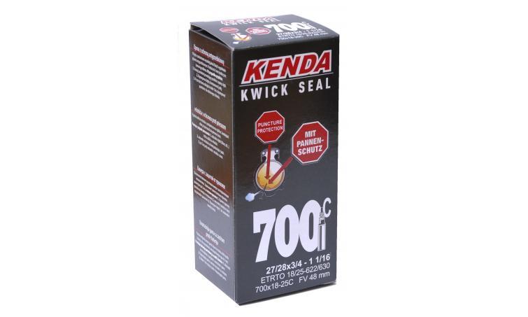 """Камера антипрокольная KENDA 28"""" (700 х 18-25C) спорт ниппель"""