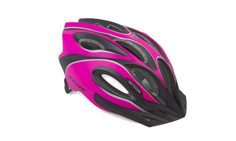 Шлем спортивный SKIFF 191 PINK-NEON/BLACK р-р 58-62см AUTHOR