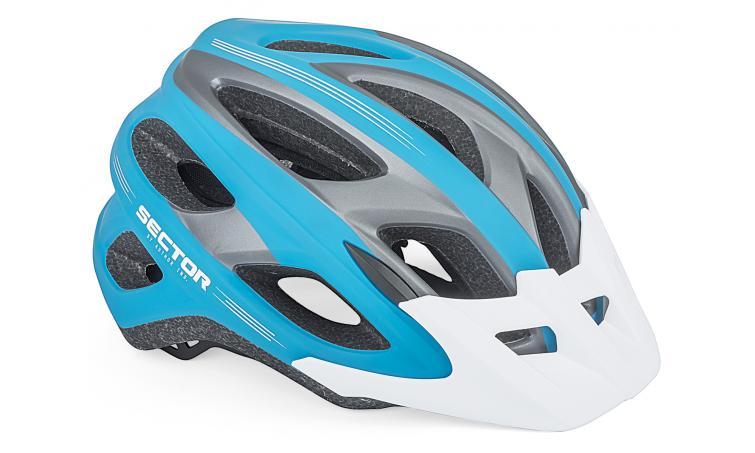 Шлем спортивный SECTOR 163 BLUE/GREY р-р 58-61см AUTHOR