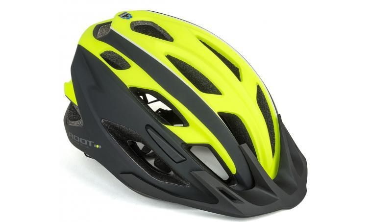 Шлем спортивный ROOT INMOLD 173 NEON-YELLOW/BLACK р-р 59-61 см AUTHOR