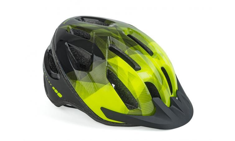 Шлем спортивный REFLEX LED 174 YELLOW-NEON/BLACK р-р 58-62см AUTHOR