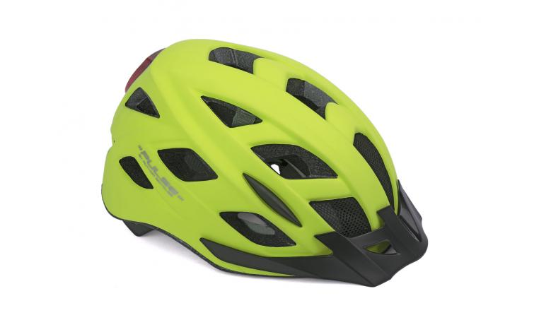 Шлем PULSE LED X8 171 NEON-YELLOW р-р 58-61см AUTHOR