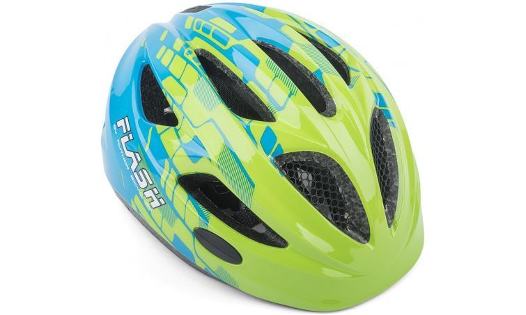 Шлем подростковый FLASH 161 GREEN/BLUE INMOLD р-р 47-51см AUTHOR
