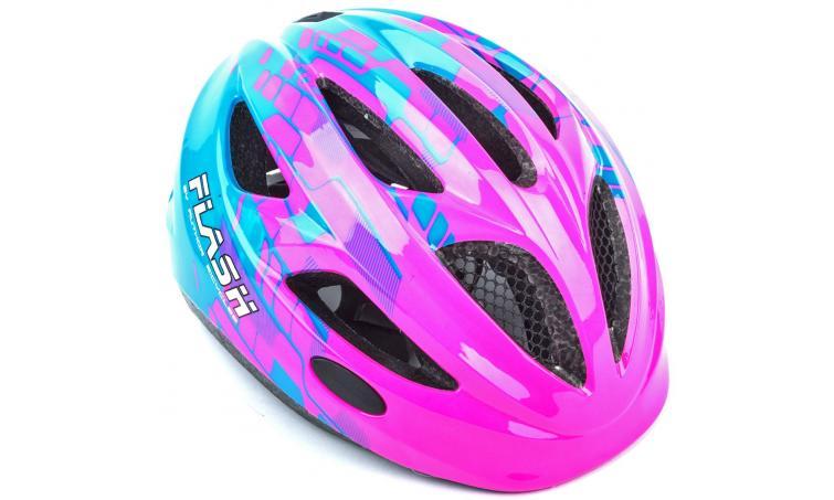 Шлем подростковый FLASH 081 PINK/BLUE INMOLDр-р 51-55см AUTHOR