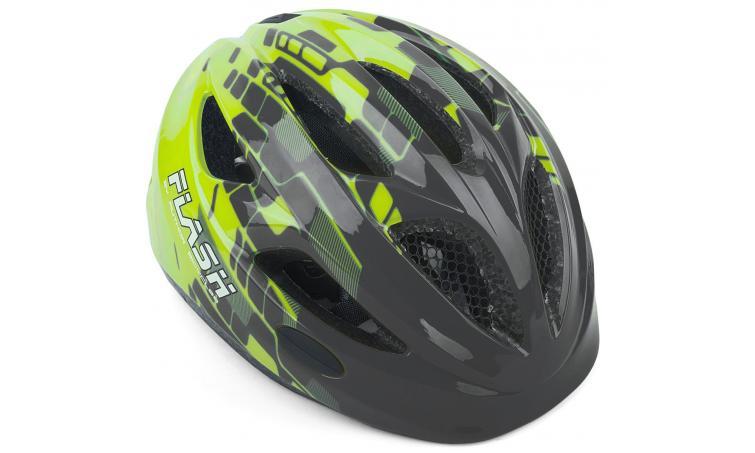 Шлем подростковый FLASH 171 GREY/YELLOW INMOLD р-р 51-55см AUTHOR