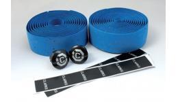 Лента на руль 3-160 CHBT корковая+крепеж+заглушки на руль синяя CLARK`S