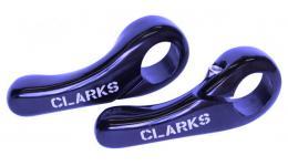 """Рога 3-321 алюм. короткие CB-02 """"мини"""" слабоизогн. эргон. синие CLARK`S SALE"""
