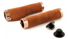 Ручки 3-357 на руль СLO221 замшевые 134мм эргоном. 2-х комп. 2 фикс. коричневые CLARK`S