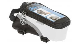 Сумочка/чехол+бокс 5-122552 на раму д/смартфона 170х80х80мм влагозащ. черно-белая M-WAVE