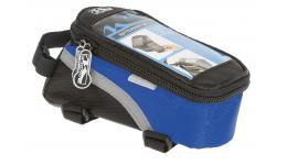 Сумочка/чехол+бокс 5-122554 на раму д/смартфона 170х80х80мм влагозащ. черно-синяя M-WAVE