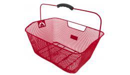 Корзина 5-431613 задняя усил. 41х31х16см сталь на багажник с ручкой (15) красная M-WAVE