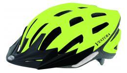 Шлем 5-730916 спорт. с сеточкой 24отв. Semi-InMold 58-61см неон.-черн. светоотраж.+диод (10) VENTURA