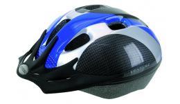 Шлем 5-730920 с сеточкой 9отв. 54-58см сине-серо-карбон. VENTURA