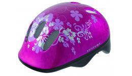 Шлем .детский/подростк. 5-731001 с сеточкой 6отв. 52-56см FLOWER/розовый (10) VENTURA