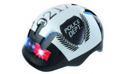Шлем .детский/подростк. 5-731004 с сеточкой 6отв. 52-56см POLICE/черно-белый (10) VENTURA