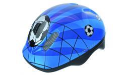 Шлем .детский/подростк. 5-731007 с сеточкой 6отв. 52-56см SOCCER/сине-бело-черн. (10) VENTURA
