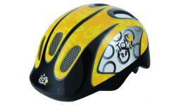 Шлем .детский/подростк. 5-731008 с сеточкой 6отв. 52-56см черно-желтый (10) TOUR DE FRANCE