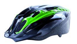 Шлем 5-731036 с сеточкой 11отв. 54-58см черно-бело-зеленый VENTURA