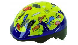 Шлем .детский/подростк. 5-731076 с сеточкой 6отв. 52-56см SEA WORLD/желтый (10) VENTURA