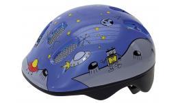 Шлем .детский/подростк. 5-731125 с сеточкой 6отв. 52-56см SPACE/голубой светоотраж. (10) VENTURA