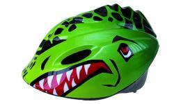 """Шлем .детский/подростк. 5-731160 3D сеточ. 6отв. SEMI-INMOLD 52-57см """"динозавр"""" красн-зелен. VENTURA"""