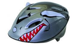 """Шлем .детский/подростк. 5-731161 3D с сеточкой 6отв. SEMI-INMOLD 52-57см """"акула"""" серо-красн. VENTURA"""