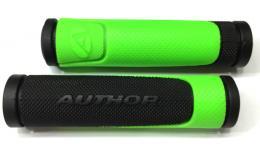 Ручки 8-33452005 на руль AGR-600-D3 130мм резин. 2-х компонент. черно-неон.-зеленые AUTHOR