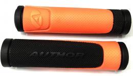 Ручки 8-33452006 на руль AGR-600-D3 130мм резин. 2-х компонент. черно-неон.-оранжевые AUTHOR