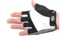 Перчатки 8-7130562 Lady Comfort Gel черно-бело-серые L гель/лайкра/синт.кожа с петельк. (20) AUTHOR