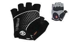 Перчатки 8-7130700 Men Comfort Gel черно-серые р-р S гель/лайкра/синт.кожа с петельками (20) AUTHOR