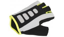 Перчатки 8-7130720 Men ARP 14A черно-бело-желтые р-р S гель/лайкра/синт. кожа с петельками AUTHOR