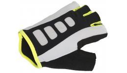 Перчатки 8-7130722 Men ARP 14A черно-бело-желтые р-р L гель/лайкра/синт. кожа с петельками AUTHOR