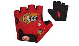 Перчатки 8-7130886 подростк. Junior Fish красно-черные р-р M замша/синт. кожа (20) AUTHOR