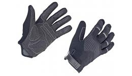 Перчатки 8-7131250 длин. пальцы Men Single T р-р XL облегч. дыш. гель/лайкра/кожа черно-серые AUTHOR