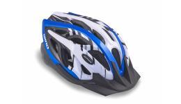 Шлем 8-9001119 с сеточкой Wind 141 Blu 21отв. сине-белый 54-58см (10) AUTHOR