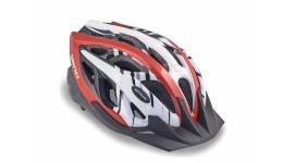 Шлем 8-9001122 с сеточкой Wind 142 Red 21отв. красно-белый 58-62см (10) AUTHOR