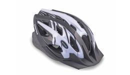 Шлем 8-9001124 с сеточкой Wind 143 Black 21отв. черно-белый 58-62см (10) AUTHOR