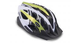 Шлем 8-9001125 с сеточкой Wind 144 21отв. неоново-желто-белый 54-58см (10) AUTHOR