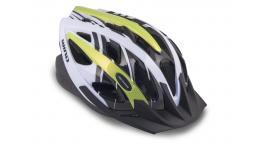 Шлем 8-9001126 с сеточкой Wind 144 21отв. неоново-желто-белый 58-62см (10) AUTHOR