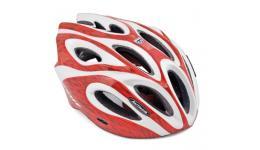 Шлем 8-9001252 спорт. c сеточкой Skiff 1041 Red 14отв. INMOLD красно-белый 58-62см (10) AUTHOR