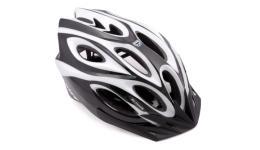 Шлем 8-9001255 спорт. с сеточкой Skiff 115 Black 14отв. INMOLD черно-белый 52-58см (10) AUTHOR