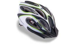 Шлем 8-9001261 спорт. с сеточкой Skiff 141 Grn 14отв. INMOLD зелено-белый 52-58см (10) AUTHOR