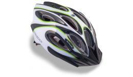 Шлем 8-9001262 спорт. с сеточкой Skiff 141 Grn 14отв. INMOLD зелено-белый 58-62см (10) AUTHOR